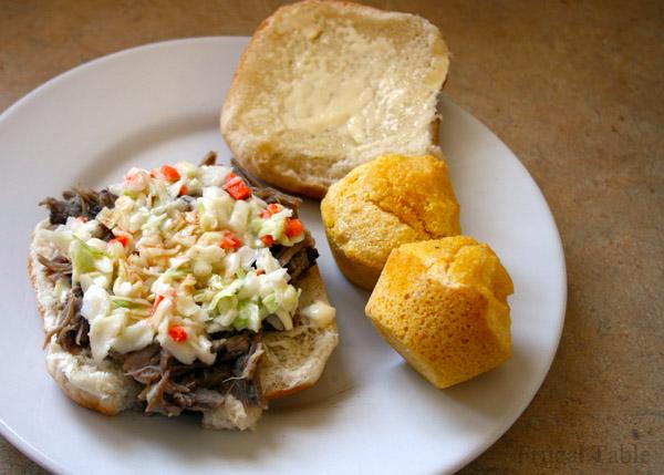 Eastern NC barbecue sandwich